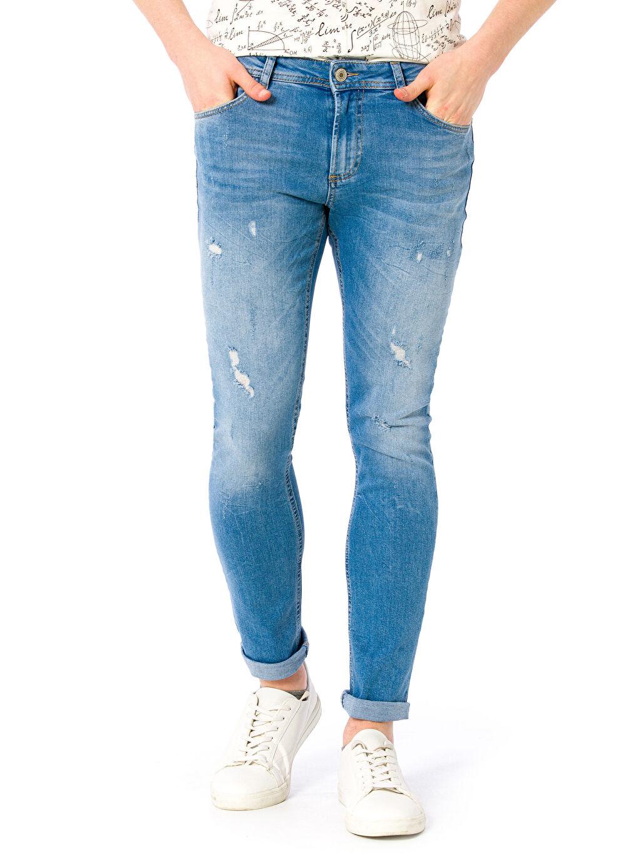 Erkek 760 Skinny Fit Yırtık Görünümlü Jean Pantolon
