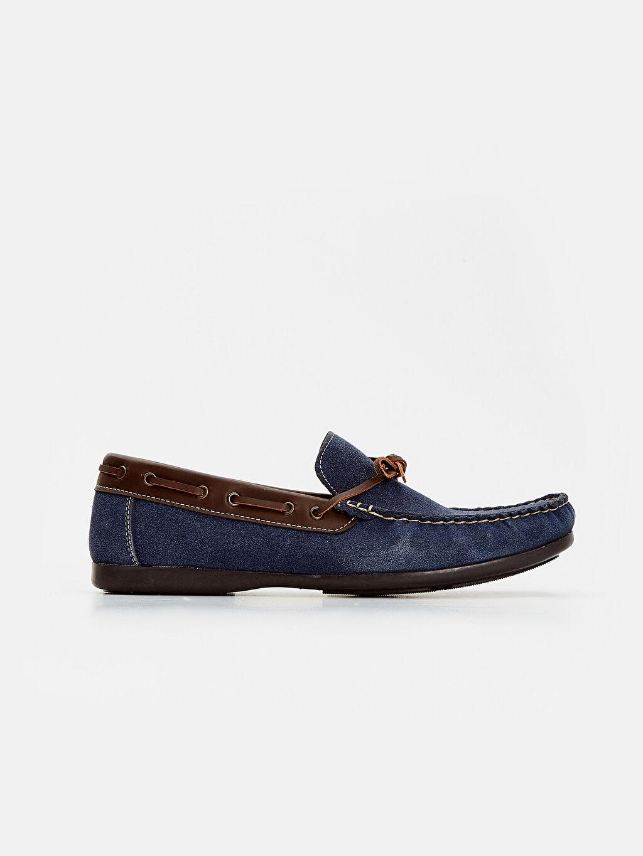 Lacivert Erkek Süet Görünümlü Loafer Ayakkabı 8S2043Z8 LC Waikiki