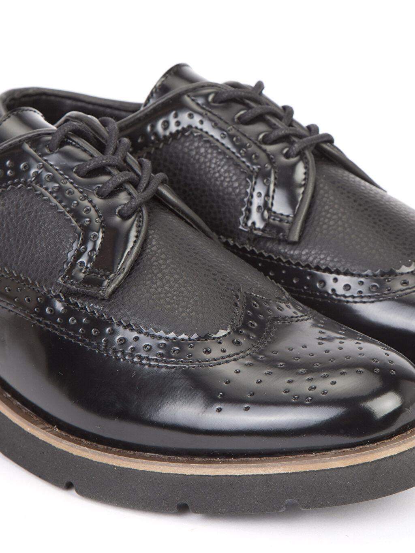 LC Waikiki Siyah Deri Görünümlü Oxford Ayakkabı