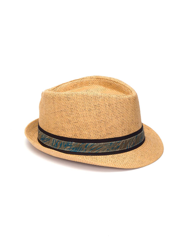 Bej Bant Detaylı Fötr Şapka 8S7169Z8 LC Waikiki