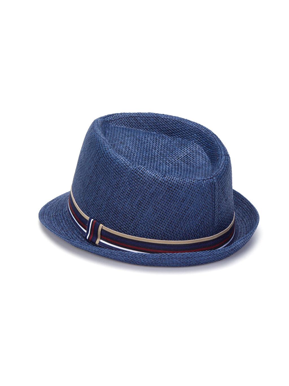 %100 Kağıt %100 Polyester Düz Şapka Bant Detaylı Fötr Şapka