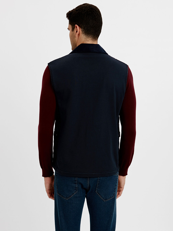 %100 Polyester %100 Polyester Taffeta Astar Yelek Orta Kalınlık Standart Gömlek Yaka Kemer Boy Kapüşonsuz Kapitone Yelek