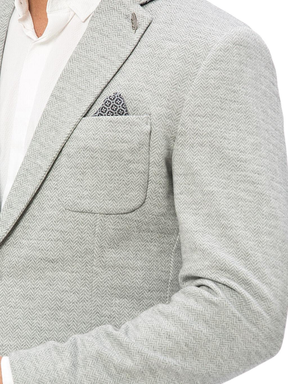 %98 Polyester %2 Elastan Dar Kalıp Blazer Ceket