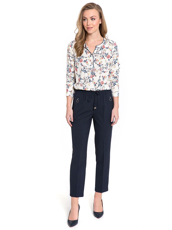 Kadın Desenli Vual Bluz