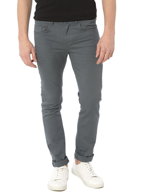 Erkek Super Skinny Gabardin Pantolon