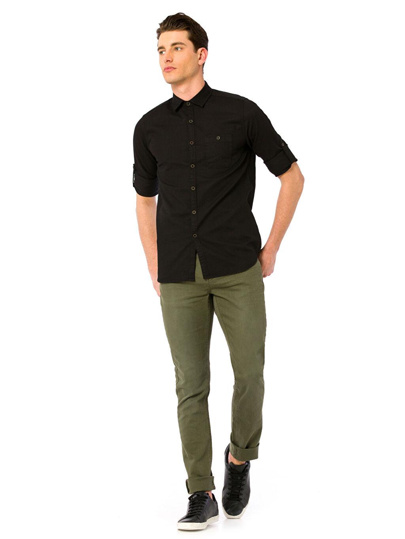 Haki Super Skinny Gabardin Pantolon 8S1063Z6 LC Waikiki