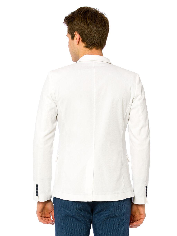%98 Pamuk %2 Elastan %100 Polyester Sentetik Astar Blazer Ceket Standart Standart Kalıp Blazer Ceket
