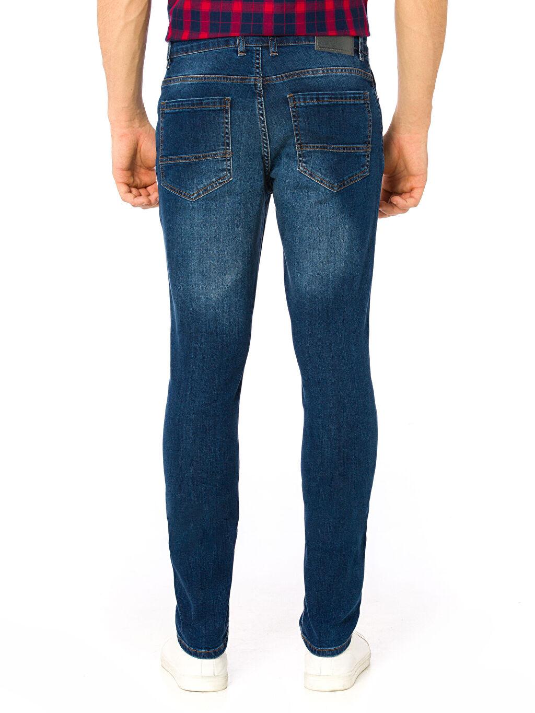 %98 Pamuk %2 Elastan Normal Bel Dar Jean Skinny Jean Pantolon