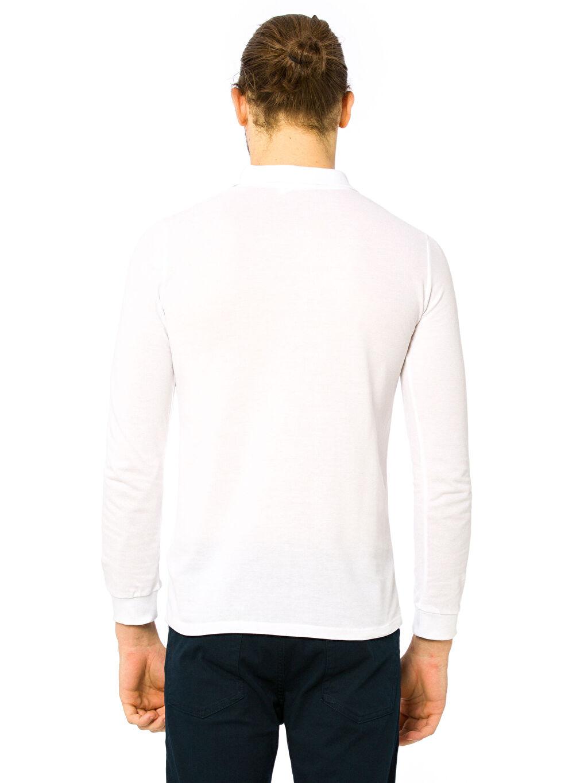 %100 Pamuk Uzun Kol Düz Standart Tişört Polo Yaka Polo Yaka Uzun Kollu Tişört