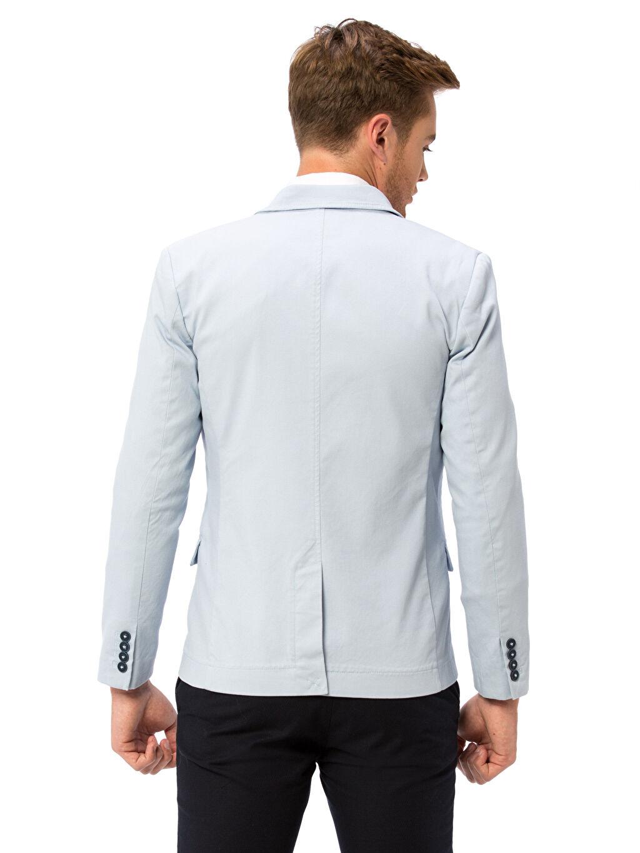 %98 Pamuk %2 Elastan %100 Polyester Orta Kalınlık Sentetik Astar Blazer Ceket Standart Blazer Ceket