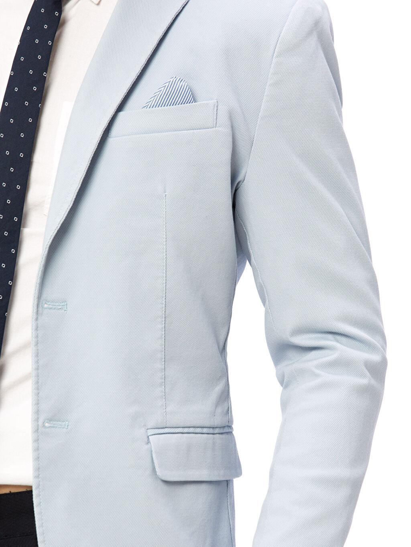 %98 Pamuk %2 Elastan Blazer Ceket