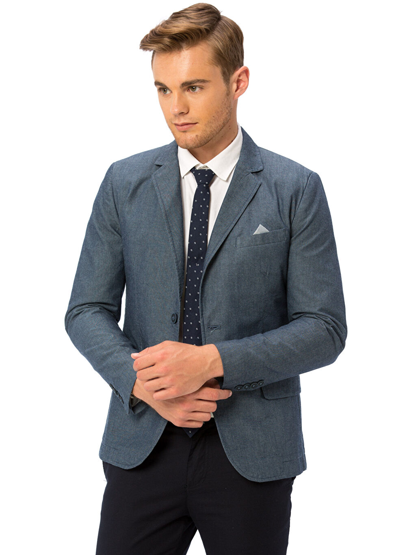 Lacivert Takım Elbise Ceketi 8SH779Z6 LC Waikiki