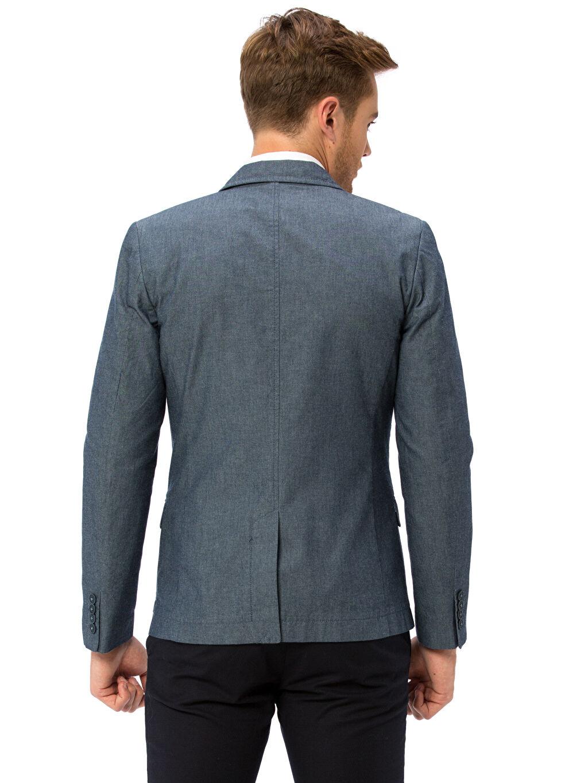 %100 Pamuk %100 Polyester Orta Kalınlık Sentetik Astar Blazer Ceket Standart Takım Elbise Ceketi