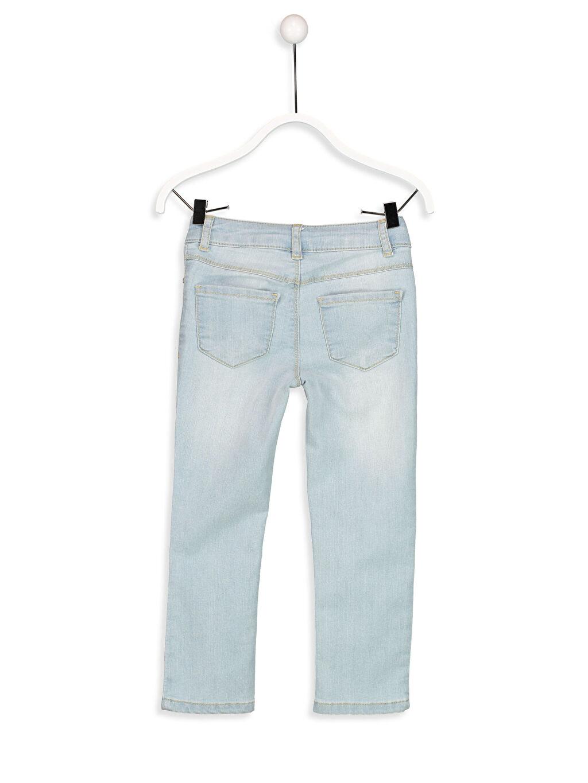 %76 Pamuk %22 Polyester %2 Elastan Düz Normal Bel Astarsız Dar Jean Standart Aksesuarsız Slim Jean Pantolon