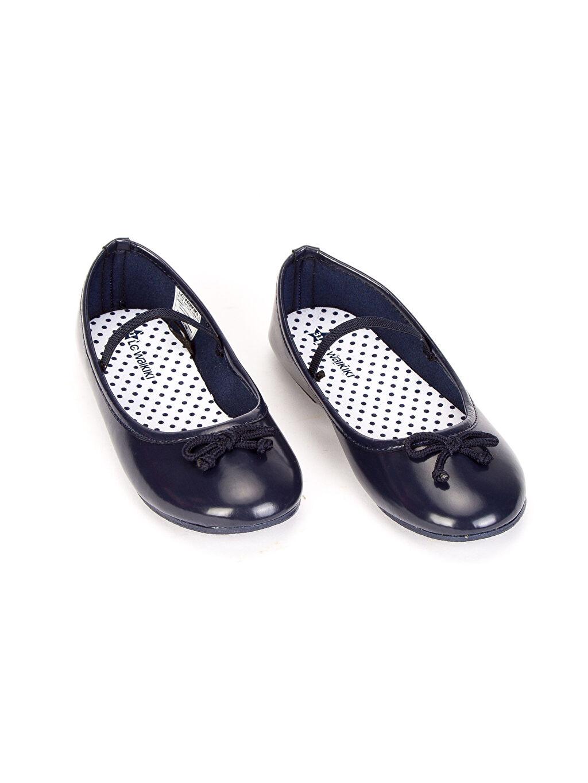 Diğer malzeme (poliüretan) Tekstil malzemeleri Ayakkabı Fiyonk Detaylı Babet