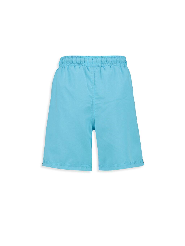 %100 Polyester %100 Polyester Şort Yanları Şeritli Deniz Şortu