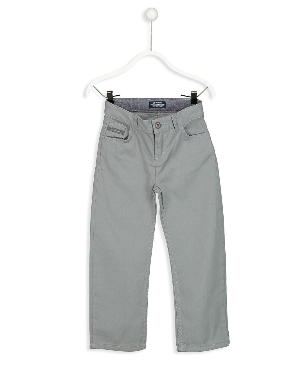 Gri Standart Kalıp Gabardin Pantolon 8S5039Z4 LC Waikiki