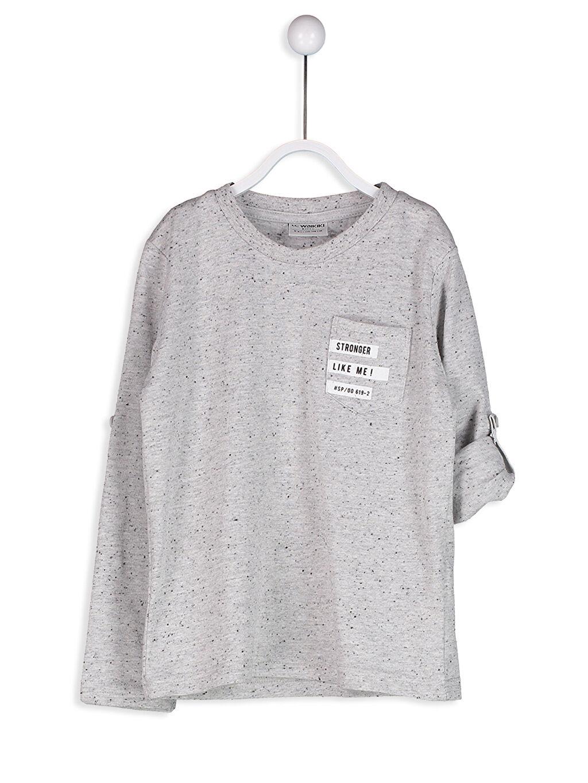 Gri Sırtı Baskılı Tişört 8S5688Z4 LC Waikiki