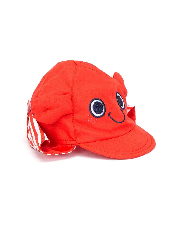 Kırmızı Erkek Bebek Güneş Şapkası 8SJ328Z1 LC Waikiki