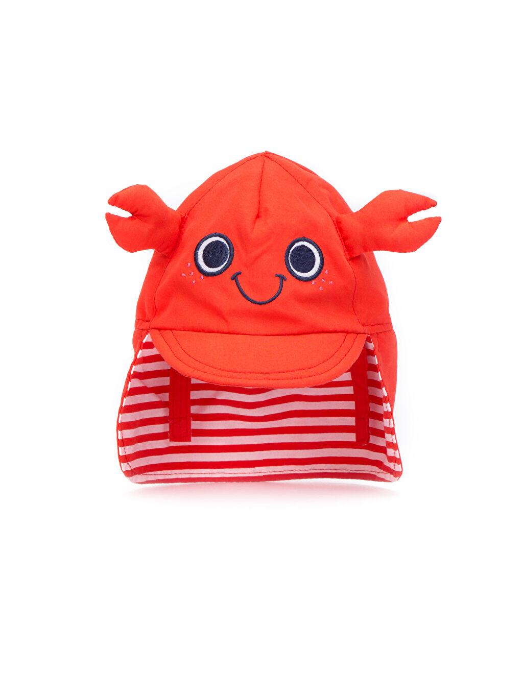 LC Waikiki Kırmızı Erkek Bebek Güneş Şapkası