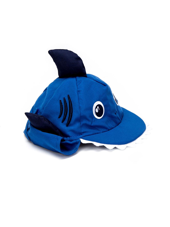 Mavi Erkek Bebek Aplikeli Güneş Şapkası 8SJ338Z1 LC Waikiki