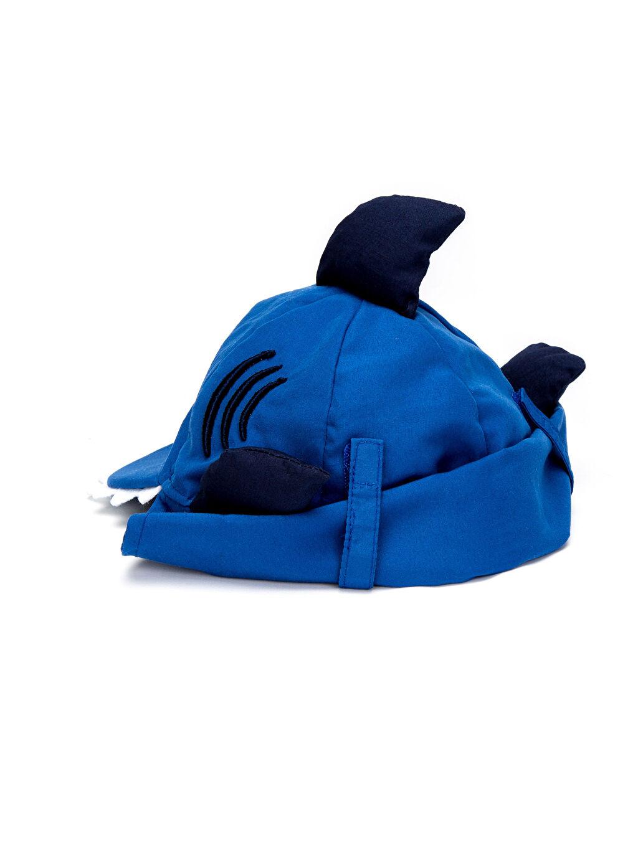 %100 Polyester Erkek Bebek Aplikeli Güneş Şapkası