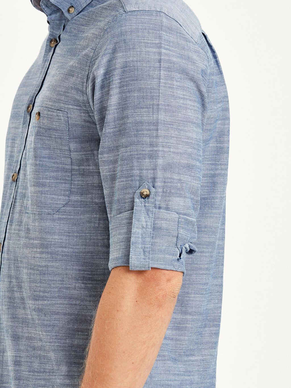 İndigo Regular Fit Uzun Kollu Poplin Gömlek