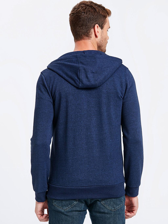 %44 Pamuk %56 Polyester İnce Sweatshirt Kumaşı Standart Kapüşon Yaka Spor Hırka Fermuarlı Kapüşonlu Sweatshirt