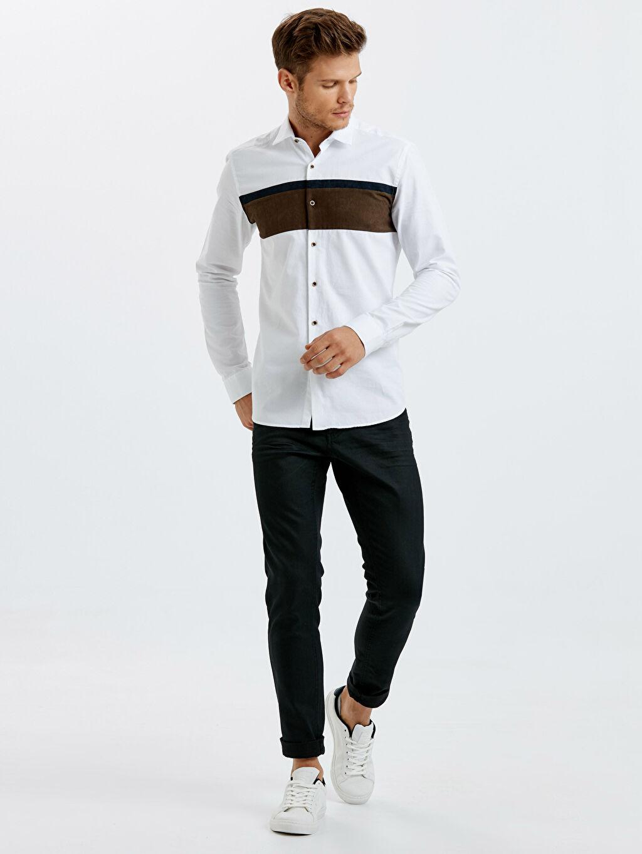 Siyah 750 Slim Fit Jean Pantolon 8W1323Z8 LC Waikiki