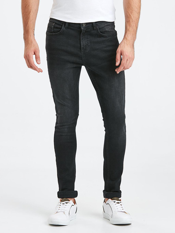 %99 Pamuk %1 Elastan Normal Bel Jean Ekstra Dar Super Skinny Jean Pantolon