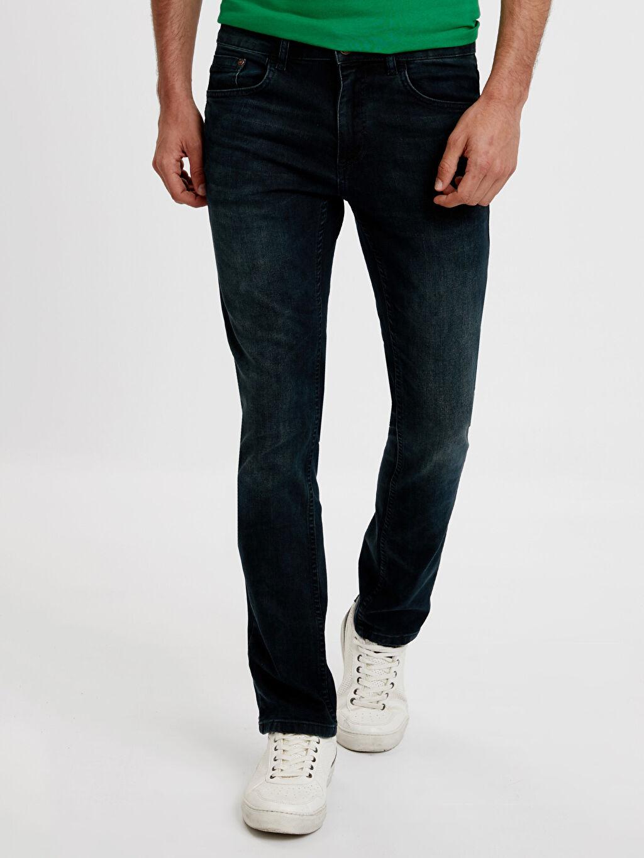 %97 Pamuk %3 Elastan Dar Jean 750 Slim Fit Jean Pantolon