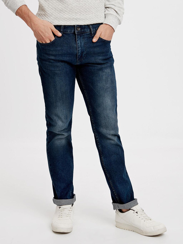 %98 Pamuk %2 Elastan Jean Standart Normal Bel 779 Regular Fit Jean Pantolon