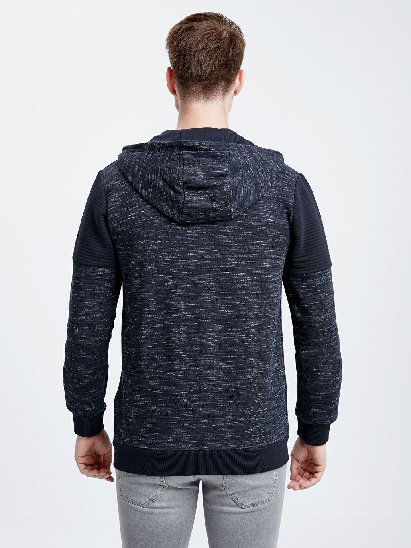 %79 Pamuk %21 Polyester Kalın Sweatshirt Kumaşı Uzun Diğer Spor Hırka Kapüşonlu Fermuarlı Sweatshirt