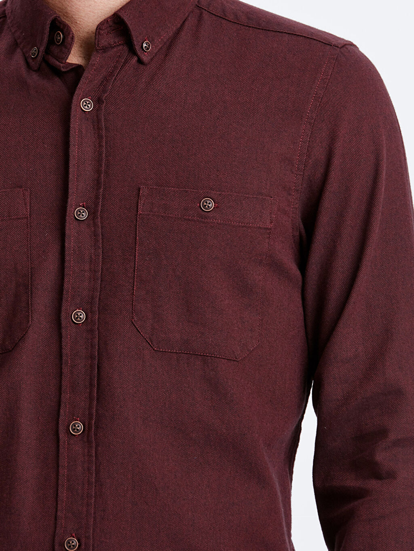 %100 Pamuk Regular Fit Uzun Kollu Pamuklu Gömlek