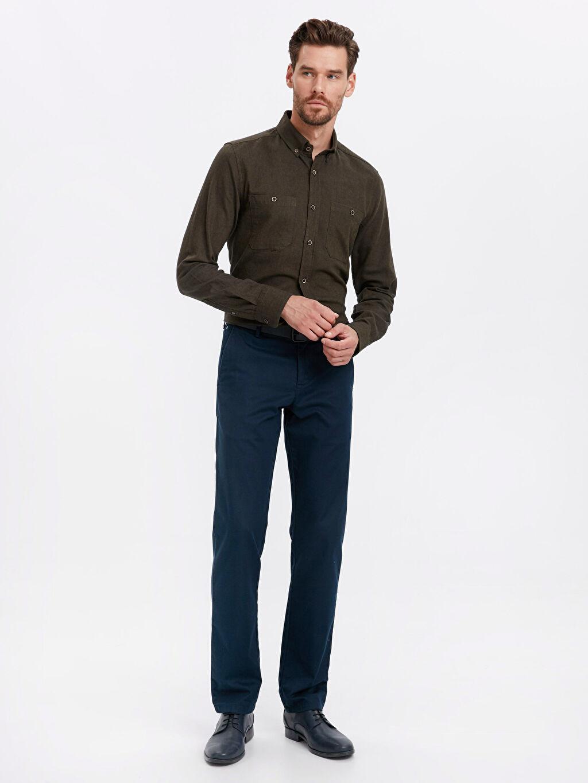 Erkek Regular Fit Uzun Kollu Pamuklu Gömlek