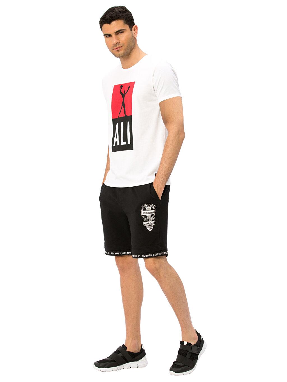 %100 Pamuk Bisiklet Yaka Muhammed Ali Tişört