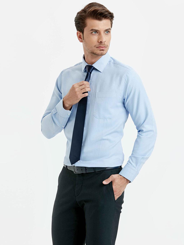 Mavi Regular Fit Uzun Kollu Gömlek 8W8942Z8 LC Waikiki
