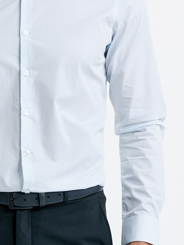 %100 Pamuk Uzun Kollu Poplin Gömlek