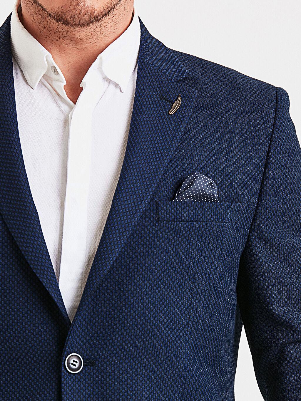 %67 Polyester %33 Viskon Dar Kalıp Blazer Ceket
