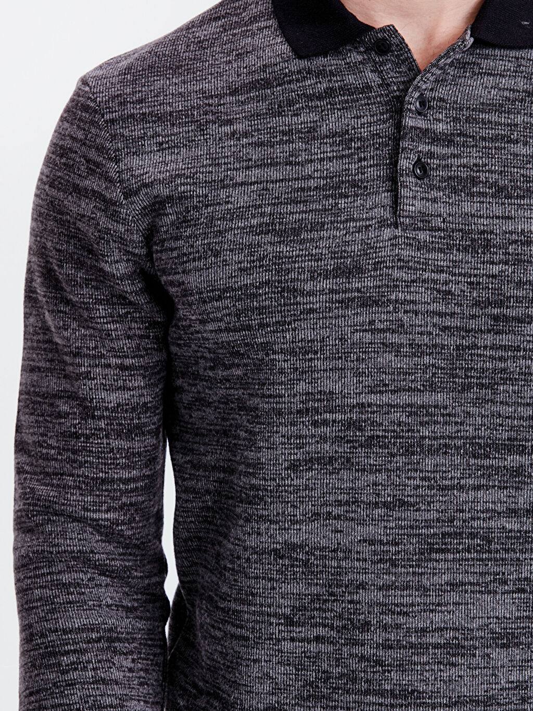 %53 Polyester %20 Viskoz %27 Akrilik Polo Yaka Sweatshirt
