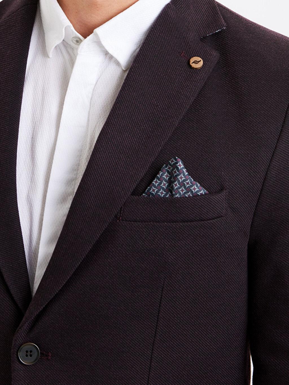 %84 Polyester %13 Viskoz %3 Elastan Dar Kalıp Blazer Ceket