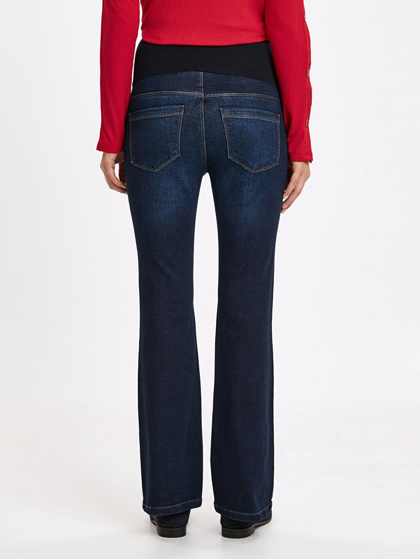 Kadın Çizme Paça Hamile Jean Pantolon