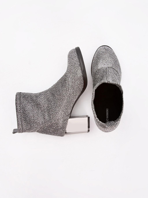Tekstil malzemeleri Tekstil malzemeleri Düz Midi 4 cm Bot Yuvarlak Burun Kadın Topuklu Çorap Bot