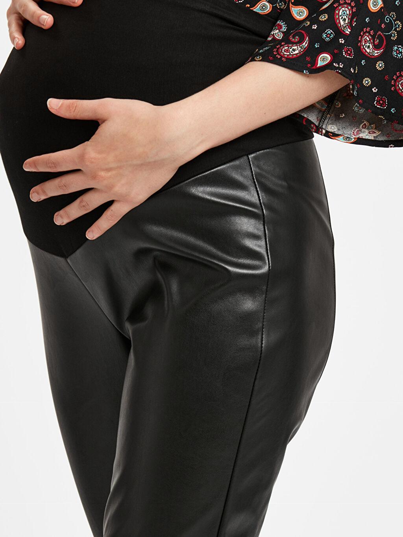 %100 Polyester Parlak Görünümlü Hamile Pantolon