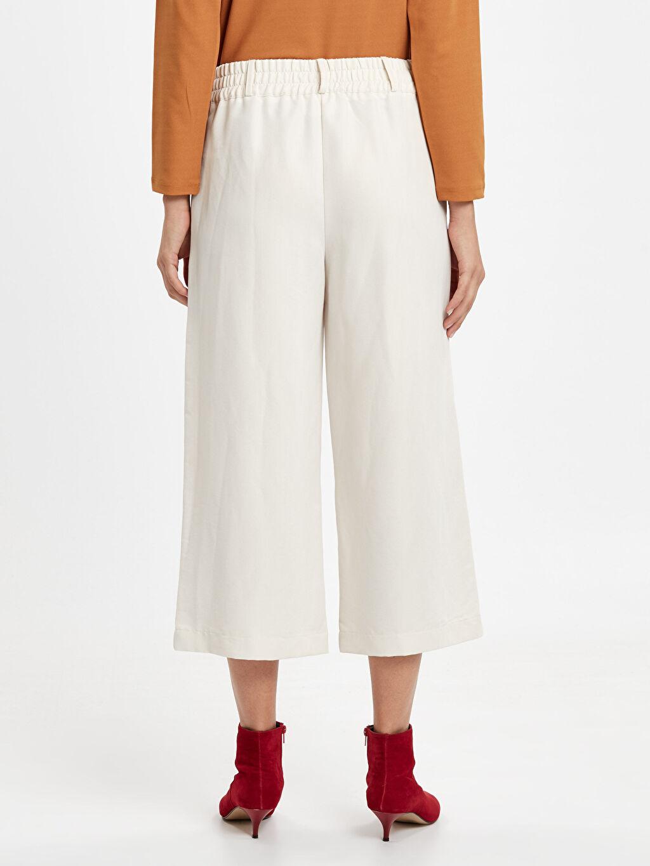 Kadın Beli Lastikli Geniş Paça Bol Pantolon