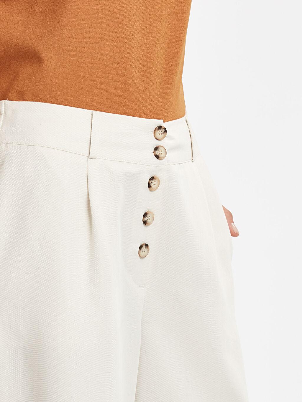 %36 Poliester %64 Modal Beli Lastikli Geniş Paça Bol Pantolon