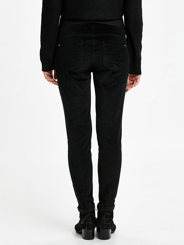 Kadın Skinny Kadife Hamile Pantolon