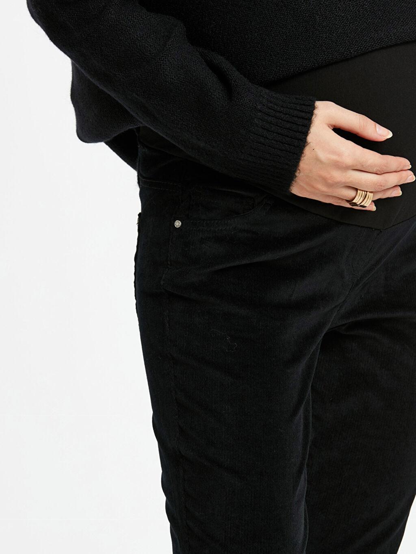%98 Pamuk %2 Elastan Skinny Kadife Hamile Pantolon