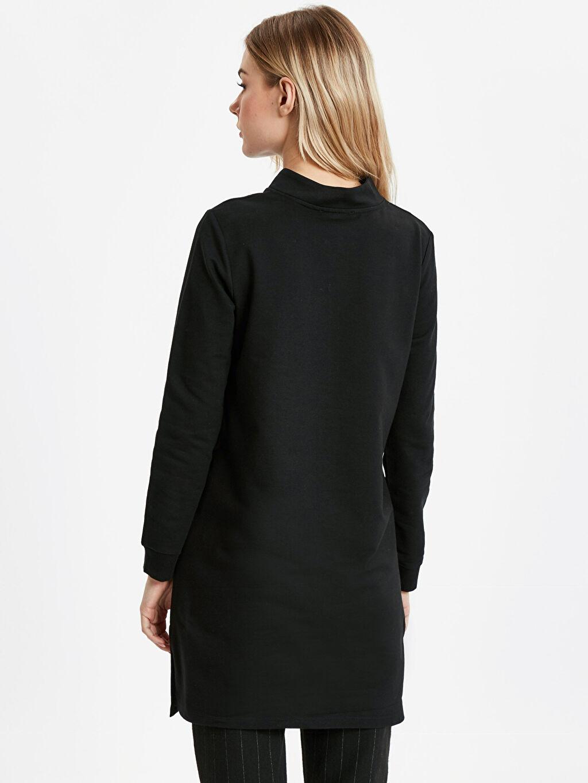 %82 Pamuk %18 Polyester Sweatshirt Sweatshirt Uzun Kol Yakası Fermuarlı Uzun Sweatshirt