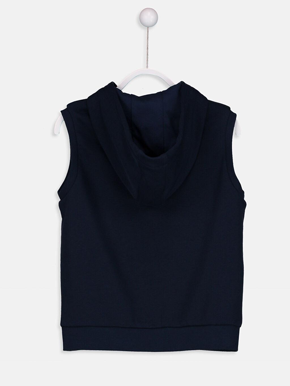 %68 Pamuk %32 Polyester Kalın Sweatshirt Kumaşı Yelek Orta Kalınlık Kapüşon Yaka Düz Kapüşonlu Fermuarlı Yelek